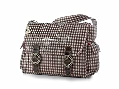 Kalencom Coated Double Buckle Bag - Chocolate & Pink