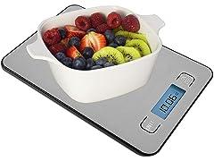 LE REGALO Digital Kitchen Food Scale, Silver