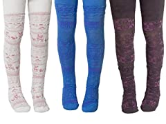 Kids Microfiber Tights - 3 pk (4-6,8-10)