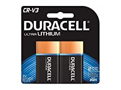 Duracell CRV3 Ultra Digital Camera Batteries - 2