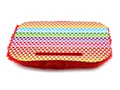 Fuzzy Lapdesk - Rainbow Dots