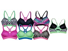 EAG Women's Cheetah Sports Bras-6 Pack