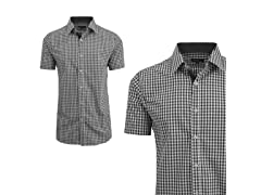 GBH Men's Gingham Plaid Dress Shirt