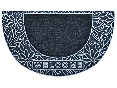 Bouquet Half Moon Silver Door Mat