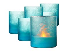 Glass Patio Light 3.5 x 4 - Set 6 Blue