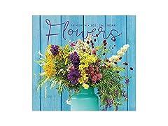2021 Full-Size Wall Calendar Flowers