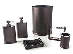 Arc Oil Rubbed Bronze 6-Piece Bath Set