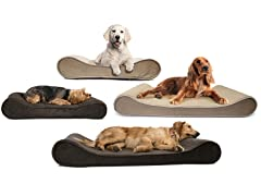 FurHaven Microvelvet Lounger Pet Bed