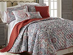 6-Pc Donna Printed Reversible Quilt Set