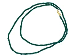 18k Plated Dyed Emerald Bead Necklace