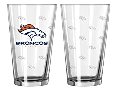 Broncos Pint Glass 2-Pack