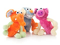 PAW 3-Pack of Dog Toys Stuffed Animals