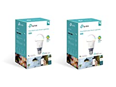 Kasa Color Smart A19 Light Bulb (2-Pack)