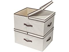 2 Compartment Storage Box, 2 Pack