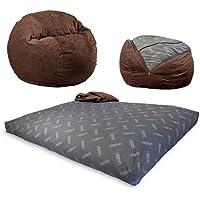 CordaRoys Chenille Convertible Sleeper Beanbag Chair