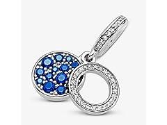 Pandora Sparkling Blue Disc Charm