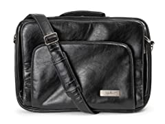 Giga Be Earth Leather Laptop Case - Black