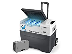 ACOPOWER 42-Quart Solar Freezer + Extra Battery
