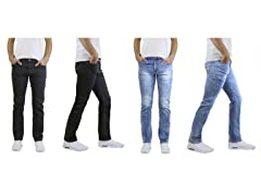 Men's Stone Washed Jeans 2-Pack
