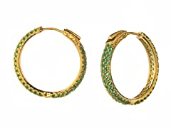 18k Plated 30mm Hoops