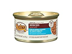 Nutro Minced Cod and Tuna Cuisine Can Senior Cat Food