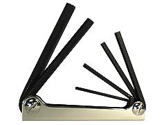 Eklind Metric 6-Piece Fold-Up Hex Key Set