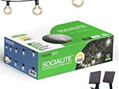 Touch Of ECO SOCIALITE Solar 20' Edison Patio Lights
