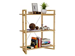 3-Tier Bamboo Bookshelf Storage Shelf