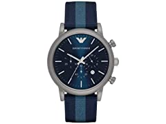 Emporio Armani Men's Blue Nylon Watch