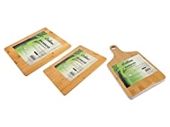 Bamboo Cutting Boards- 3-Piece, Solid