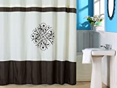 Lewiston Embroidered Shower Curtain