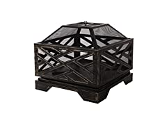 Amazon Basics Geometric Square Fire Pit