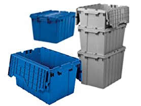 Akro-Mils Totes with Hinged Lids - Case of 6