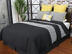 Greek Key 5-Piece Queen Comforter Set