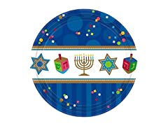 Amscan Joyous Menorah Celebration Plates