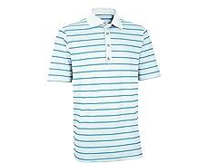 Performance Stripe Golf Shirt - White/Ash