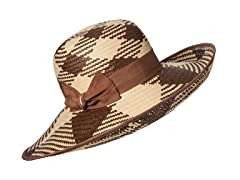 Orchid Straw Sun Hat, Cocoa/Natural