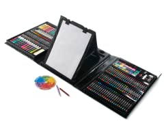 179-Piece Trifold Double-Easel Art Set