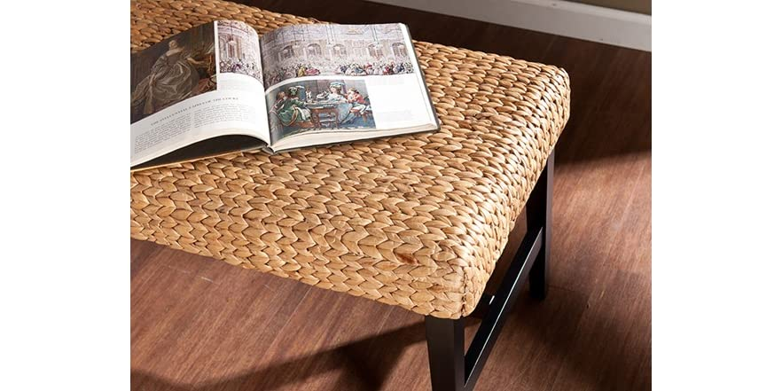 Water Hyacinth Bench Black Amp Natural