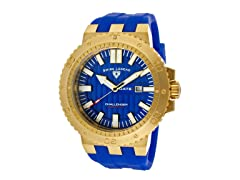 Challenger Watch, Blue / Gold / Blue