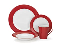 Cuisinart 16-Piece Rialle Dinnerware Set - Red