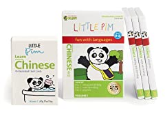 Little Pim Chinese Vol 1- 3 Pack DVD Set and Flashcards