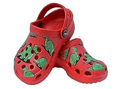 Red Dino Clog