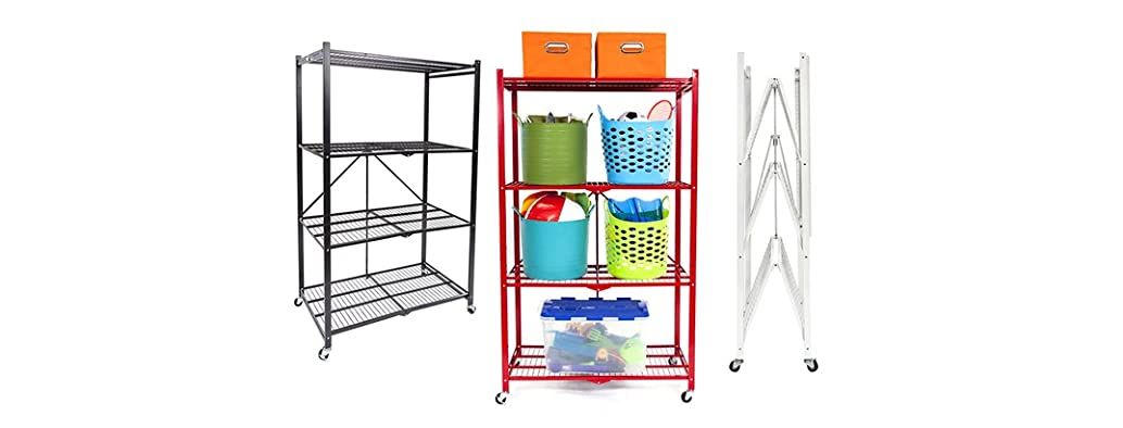 Origami Set of 2 Pop-It 4-Tier Shelves