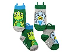 2-Pk Socks - Dinosaurs