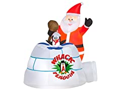 Animated Airblown Santa Whack-A-Penguin Game