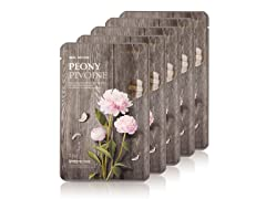 Real Nature Peony Face Mask  - 5 Pack