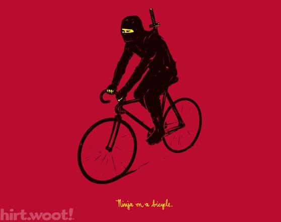 Ninja on a bicycle XQ01374y