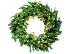 "Nottingham Pine 48"" Wreath Prelit Clear"