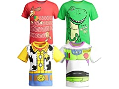 Toy Story Big Boys 4 Pack T Shirts